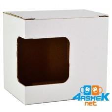 Упаковка для чашки картонная с окном cp2
