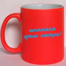 Неоновая чашка красная
